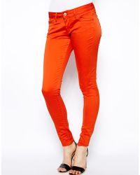 Twenty 8 Twelve Sabine Colour Sateen Jeans - Lyst