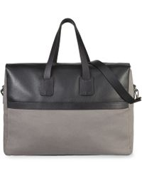 Whistles Canvas and Leather Holdall Bag - Lyst