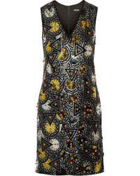 DKNY Embellished Crepe Dress - Lyst