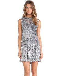 Rebecca Taylor White Noise Print Tank Dress - Lyst