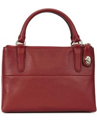 COACH - Mini Borough Crimson Grained Leather Tote - Lyst