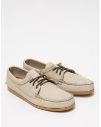 Quoddy Off White Chamois Blucher - Lyst