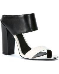Rachel Zoe Skyla High-Heel Leather Sandals - Lyst