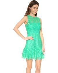 Shoshanna Lace Rainey Dress Aquamarine - Lyst