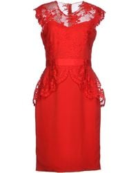 Notte By Marchesa Knee-Length Dress - Lyst