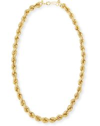 Tuleste - Skinny French Twist Chain Necklace - Lyst