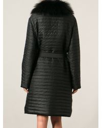 Lanvin Black Oversized Coat - Lyst