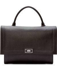 Givenchy Black Large Waxy Shark Bag - Lyst