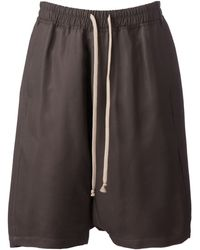 Rick Owens Drop Crotch Shorts - Lyst