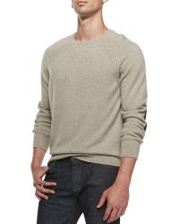Vince Elbowpatch Crewneck Sweater - Lyst