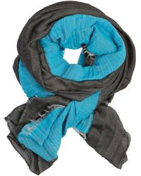 7 For All Mankind - Scarf Color Blocking Turquoise & Black - Lyst