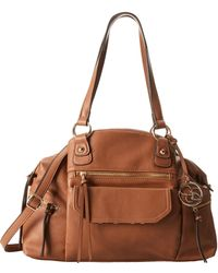 Jessica Simpson Brown Carly Tote - Lyst