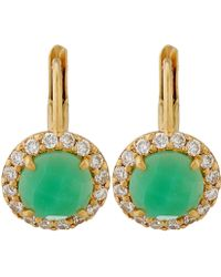 Jamie Wolf - Gold Green Chrysoprase And Diamond Scallop Earrings - Lyst