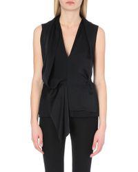 Maison Margiela Wool-Blend Sleeveless Top - For Women - Lyst