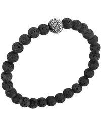 John Hardy Mens Batu Classic Chain Volcanic Bead Bracelet - Lyst