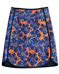 Cynthia Rowley Bonded Slim Skirt - Lyst