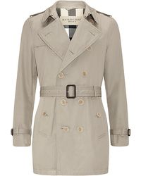 Burberry Brit - Long Double-breasted Trench Coat - Lyst