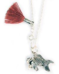 Lennebelle Charm Tassel Necklace Longtail Fish - Lyst