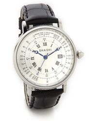 Shashi - Cosmo Watch - White Gold/Black - Lyst