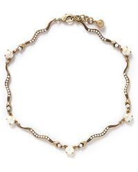 Lulu Frost 'Serpentine' Pearl Snake Necklace - Lyst