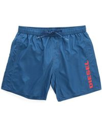 Diesel Navy Markred Swim Shorts - Lyst