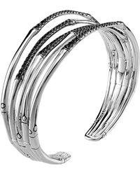 John Hardy Bamboo Silver Lava Narrow Flex Cuff - Lyst