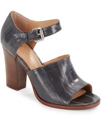 Vince Camuto Signature - Wide-Band Leather Ankle-Strap Sandals - Lyst