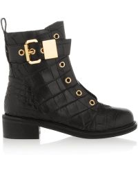 Giuseppe Zanotti Croc-Effect Leather Ankle Boots - Lyst