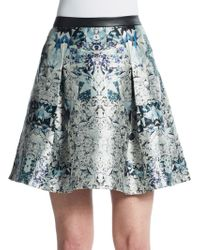 Sachin & Babi Shiva Gem-Print Mini Skirt multicolor - Lyst
