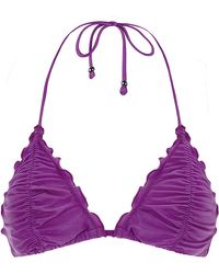 Seafolly Shimmer Slide Triangle Bikini Top - Lyst