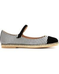 Tabitha Simmons Nelly Printed Silk And Suede Espadrille Ballerinas - Lyst