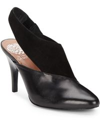 Vince Camuto Taceys Suede & Leather Sling Back Pumps - Lyst