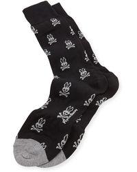 Psycho Bunny Bunny-print Knit Socks - Lyst