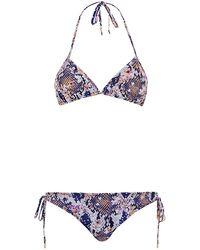 Matthew Williamson Blossom Snake Triangle Bikini - Lyst