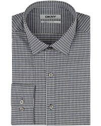 DKNY Mens Check Dress Shirt - Lyst