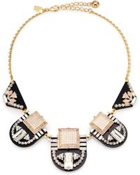 Kate Spade Imperial Tile Bib Necklace - Lyst
