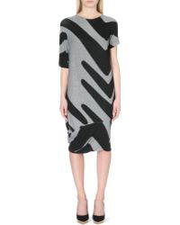 Vivienne Westwood Anglomania Palm Printed Stretch-Jersey Dress - Lyst