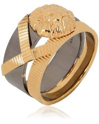 Anthony Vaccarello X Versus Versace Metal Lion Ring - Lyst