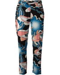 Mm6 By Maison Martin Margiela Abstract Print Trousers - Lyst