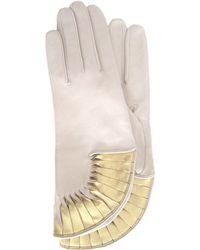 Thomasine Gloves - Paris Glove Sun Fan Wrist White - Lyst