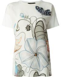 Gucci 'Flora Knight' Print T-Shirt - Lyst