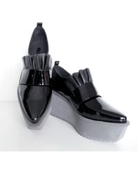 Jamie Wei Huang | Leather Black Ruffle Shoes | Lyst