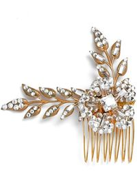 Halo - 'lavina' Crystal Hair Comb - Metallic - Lyst