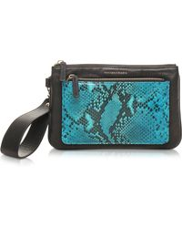 Francesco Biasia - Hampstead Embossed Leather Clutch W/wristlet - Lyst
