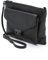 Loeffler Randall Double Pouch Cross Body Bag - Black black - Lyst