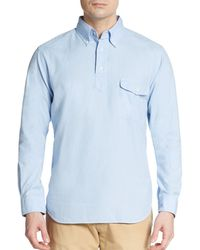 Gant Rugger Dreamy Oxford Cotton Pullover - Lyst