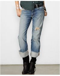 Denim & Supply Ralph Lauren Distressed Cuffed Boyfriend Jeans - Lyst