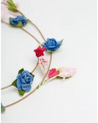 Asos Boho Paper Flower Hair Tie - Lyst