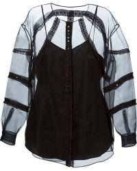 Moschino Cheap & Chic Sheer Embellished Top - Lyst