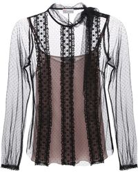 RED Valentino Point Desprit Tulle Blouse - Lyst